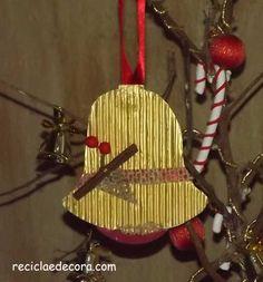 Enfeite de Natal com Embalagem de Torrada