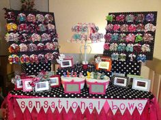 My craft show table! Pinterest inspired of course!