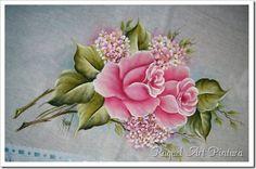 Pintura em Tecido Passo a Passo: Pintura em tecido passo a passo Rosas