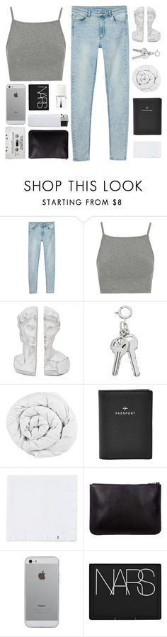 """""""PURENESS"""" by expresng ❤ liked on Polyvore featuring Monki, Topshop, The Fine Bedding Company, FOSSIL, Toast, Luvvitt, NARS Cosmetics and Christian Dior"""