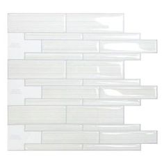Smart Tiles, 9.75 in. x 10.50 in. Infinity Mosaic Peel and Stick Decorative Wall Tile in White, SM1028-1 at The Home Depot - Mobile