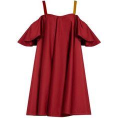 Anna October Cold-shoulder ruffled dress