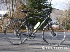 X-Bike with roadbike groupset ... we call it the URBAN BIKE ...  Shimano Ultegra 2x11 on a Chili Trekking Bike... makes the bike light and you fast .. www.cucuma.com