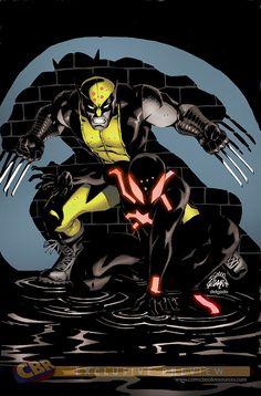 Scarlet Spider 18 Cover: Wolverine, Scarlet Spider Marvel Comics Poster - 30 x 46 cm Marvel Comic Books, Marvel Characters, Comic Books Art, Comic Art, Book Art, Comic Pics, Superman, Batman, All Spiderman