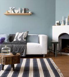 ... woonkamer blauw blauwe elementen woonkamer grijs blauw wall color