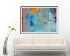 Large Abstract Painting Colorful Modern Artwork by AjdinovicStudio