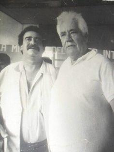 Andy Montañez con Don Lucho Rospigliosi en el 2005, le cantó las hojas blancas. Febrero 11, 2015. Salsa Music, Che Guevara, White Sheets, February, Salsa