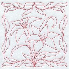 Machine Embroidery Designs at Embroidery Library! - Floral Pillow Squares