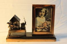 Vintage Copper Photo Picture Frame Hosue Mill Cabin Metalwork Country MUST SEE #Handmade #Farmhouse
