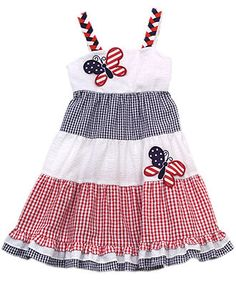 Rare Editions Kids Dress, Little Girls Patriotic Dress - Kids - Macy's