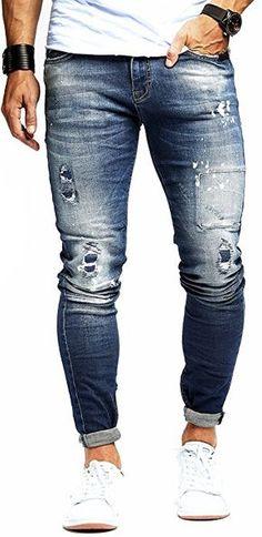 7f1ef340a65 LEIF NELSON Herren Hose Jeans Stretch Jeanshose Freizeithose Denim Slim Fit  LN9960BL  W30L32