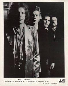 King Crimson (1974) David Cross,Bill Bruford,John Wetton and Robert Fripp.
