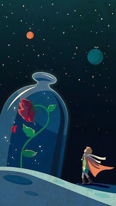 The little Prince - Trend Disney Stuff 2019 Red Wallpaper, Tumblr Wallpaper, Galaxy Wallpaper, Disney Wallpaper, Wallpaper Quotes, Wallpaper Backgrounds, Wallpaper Space, Computer Wallpaper, Little Prince Quotes