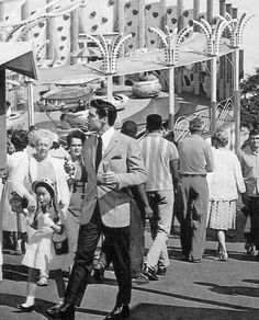 """Filming 1962  - """"It Happened at the World's Fair."""" Elvis and Vicky worked with a chocolate and nut covered ice cream bar and a corn dog on a stick. For each take they were handed fresh ones of each. Jarvis judged that, """"Elvis was getting a little tired of the ice-cream-and-hot-dog diet. Vicky seemed to love it."""" After finally getting the shot he wanted, director Norman Taurog moved the crew to the Lucky Strike coin toss booth, where Elvis won (in the film) a large stuffed animal for Vicky."""