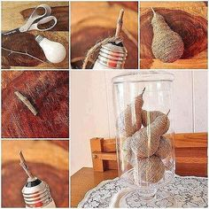 DIY Light Bulb Pear