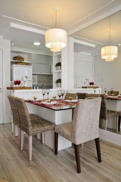 Ideias e inspirações para decorar salas de jantar pequenas.