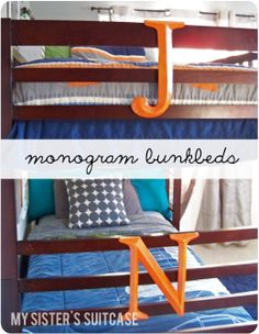 My Sister's Suitcase: Boys' Room {Part 2}: Bunk bed transformation