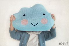 Knit Cloud Pillow   SKY BLUE by kokokoshop on Etsy, $50.00