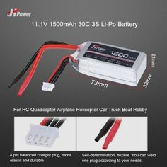 10.99$  Watch now - http://ai35l.worlditems.win/all/product.php?id=RM5956 - JHpower 11.1V 1500mAh 30C 3S Li-Po Battery for RC Drone Airplane Car Truck