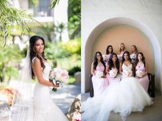 """A swoon-worthy look at Bride Sunshine's glamorous Huntington Beach wedding in a custom Lauren Elaine """"Aurelia"""" gown. See the full blog post and more gorgeous photos at http://blog.lauren-elainedesigns.com/2015/09/28/sunshines-happily-ever-after-in-huntington-beach/"""