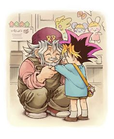 That's the one thing I wish they had on the show. We see Yami as a child, but never YUGI!