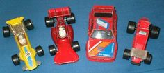FOUR 1970/1980s MATCHBOX LESNEY RACING CARS – FORMULA 1 / BMW / STOCK CAR - http://www.matchbox-lesney.com/47277
