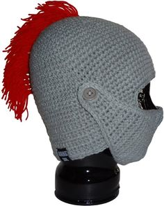 Amazon.com: Authentic Soul Spartan Crochet Knight Helmet Beanie Hat @Bex Wyatt