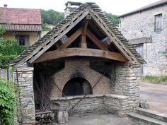 This is the French village of Blanot's communal oven. Once used by the villagers for their baking needs.