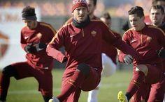 Ultimo allenamento dell'anno per la Roma a Trigoria #roma #allenamento #trigoria