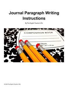 Writing Effective Journals: Printable Instructions and Examples 9th Grade English, Gcse English, Middle School English, Levels Of Understanding, High School Classroom, Paragraph Writing, Teachers Pet, Upper Elementary, Teaching English