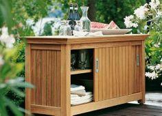 Trend Modernes Garten Sideboard aus Holz Garpa