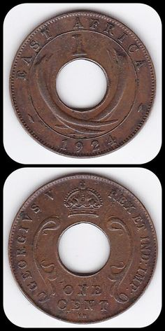 1924 East Africa 1 Cent World Coins, Rare Coins, East Africa, Coin Collecting, Historical Photos, Stamps, Old Things, Knowledge, British