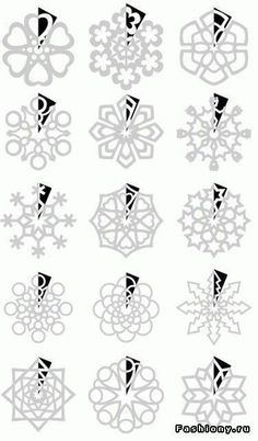 DIY : Paper Snowflakes Templates by Hairstyle Tutorials - Christmas DIY Diy And Crafts, Crafts For Kids, Arts And Crafts, Paper Crafts, Paper Toys, Holiday Fun, Christmas Holidays, Christmas Ornaments, Christmas Snowflakes