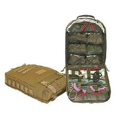 M-9 Assault Medical Aid Backback, Black, NSN Unassigned