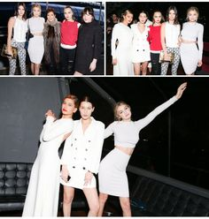 March 30th: Gigi Hadid, Bella Hadid, Cara Delevingne, Kendall Jenner, Kris Jenner, Hailey Baldwin and Dakota Johnson on the Chanel Cruise in NYC.