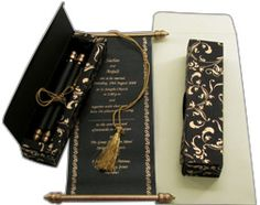 Scroll Invitations, Indian Scroll Cards, Royal Scroll Wedding Invitations