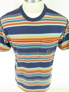 Vtg 60s Hang Ten Surfer Striped Cotton T Shirt XL USA Made | eBay