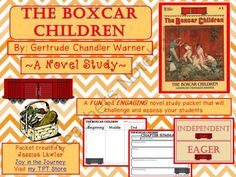 "The Boxcar Children: Novel Study Packet from Joy in the Journey on TeachersNotebook.com -  (52 pages)  - ""The Boxcar Children"" is a wonderful classic book that tells the story of four orphaned children who make a home in an abandoned boxcar. This 50-page MEGA packet is the perfect supplement to a study of the book, whether you're doing it as a"