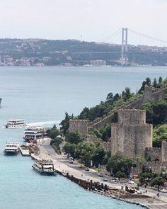 View of Rumeli Hisari and the Bridge #bridge #bosphorus From @melikecev  #istanbul #turkey #turkiye #instaturkey #turkishfollowers #cntravellertr #fotozamani #aniyakala #beautifuldestinations #passionpassport #guardiantravelsnaps #instagram #igworldclub #theworldshotz #photooftheday #natgeotravel #city #cityscape #travel #light #streetart #streetphotography