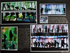 Beautiful AS Photography sketchbook page: mixed media work alongside detailed analysis. An 100% project by Melissa Kelsey