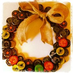 Beer Cap Wreath for Beer Tasting Party I HAVE ENOUGH TO MAKE 5