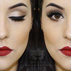Classic makeup look.