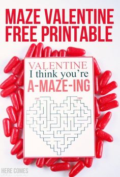 Print out this Maze Valentine for a fun activity for kids. Perfect to give and to receive Happy Valentine Day HAPPY VALENTINE DAY | IN.PINTEREST.COM WALLPAPER #EDUCRATSWEB