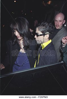 Prince and newly Married Wife Mayte Garcia London 1997 4pics (credit image©Jack Ludlam) - Stock Image