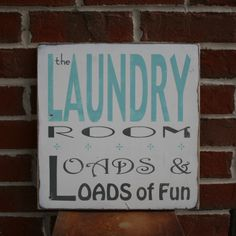 The Laundry Room Loads and Loads of Fun by barnowlprimitives. $50.00, via Etsy.