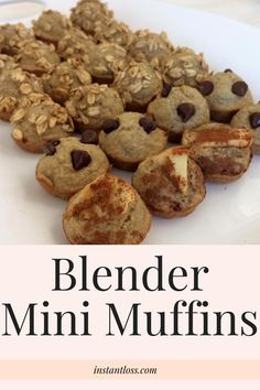 Made with tasty whole oats these easy peasy Blender Muffins are sure to be a new staple in your kitchen! BLENDER MINI MUFFINS Makes 24 mini muffins Preheat oven to 350 INGREDIENTS 3/4 cup Oats (any kind will do, I use steel cut) 1 Ripe Banana or 1 Apple cut in fourths (core in) 1 …