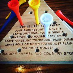 Three left.  Thanks Cracker Barrel for the words of encouragement.