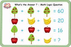 Math Logic Questions with Answers: Simple, Fun and Tricky Math Questions for Kids and Adults. Math Puzzles Brain Teasers, Math Logic Puzzles, Mind Puzzles, Logic Questions, Quiz Questions And Answers, This Or That Questions, Math Riddles With Answers, Reto Mental, Logic Problems