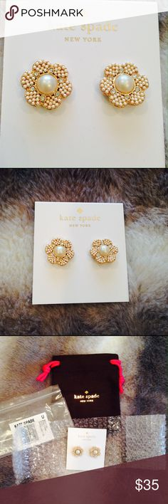Brand new Kate Spade Park Floral Studs Brand new w/ original packaging Kate Spade Park Floral studs. kate spade Jewelry Earrings