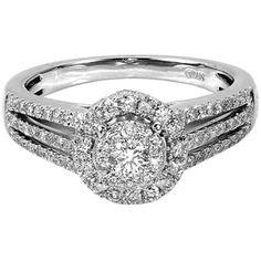 3/4 Carat T.W. Round Diamond 10kt White Gold Engagement Ring